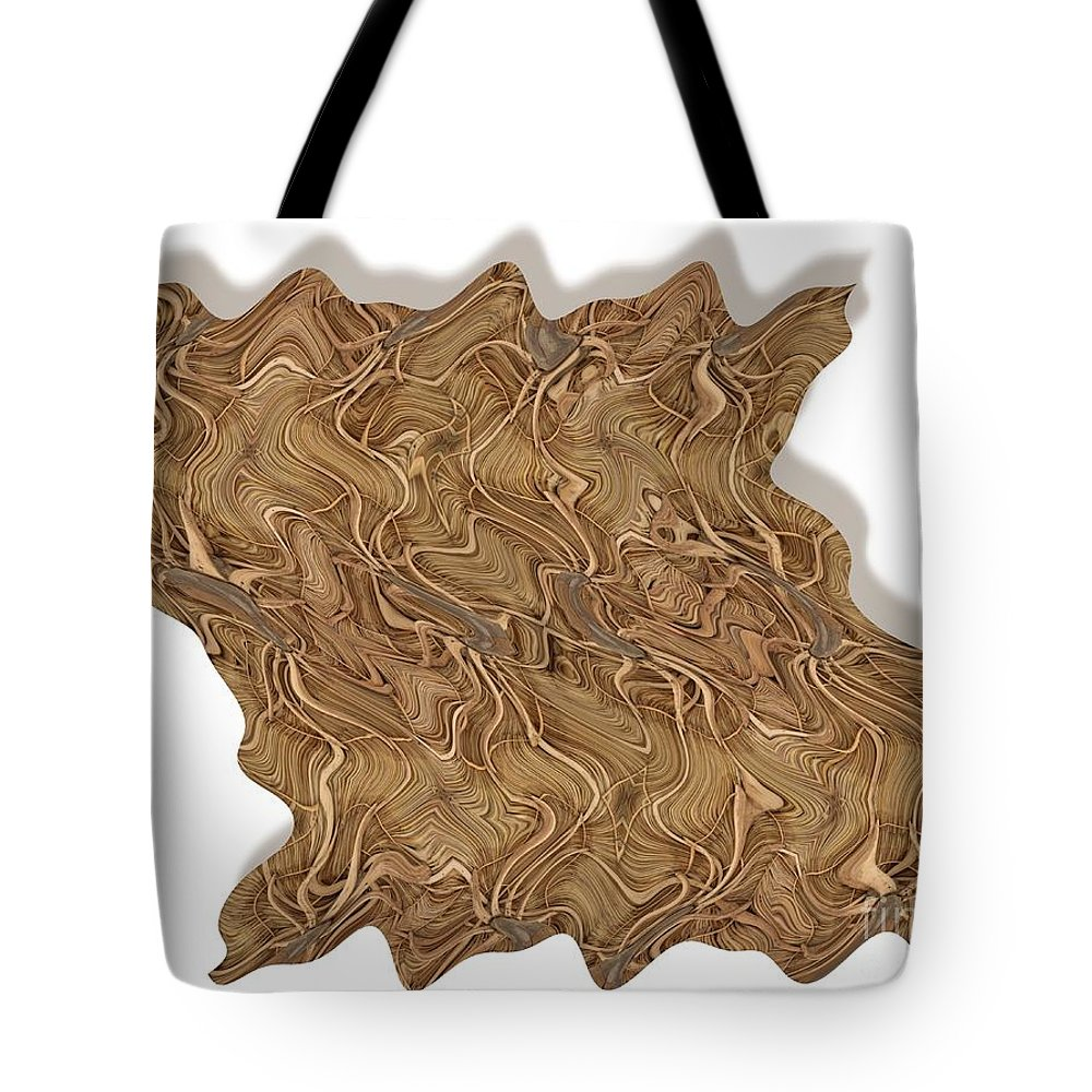 Abstract Tote Bag featuring the digital art Grass Works by Ron Bissett