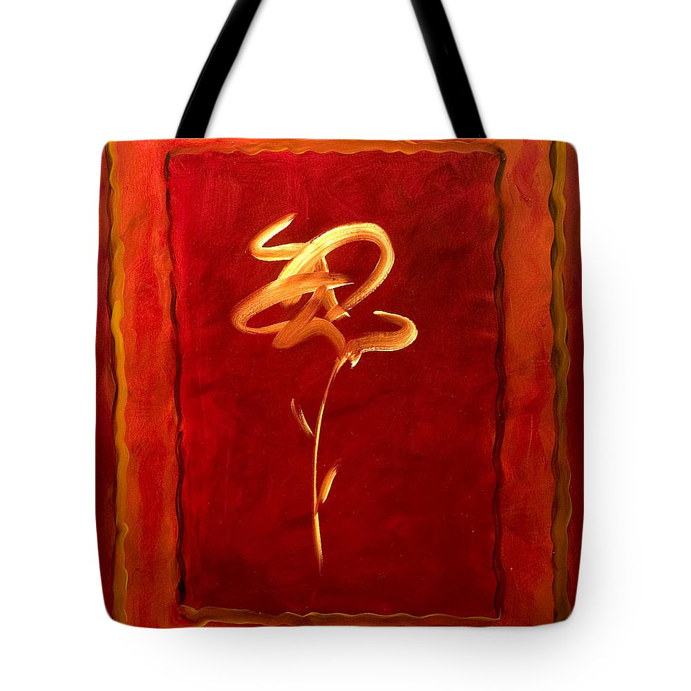 Abstract Flower Tote Bag featuring the painting Gratitude by Shannon Grissom