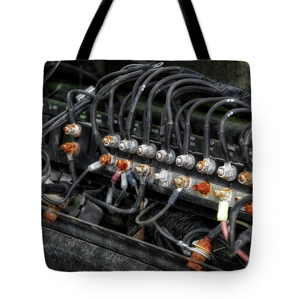 Gravel Pit Tote Bag featuring the photograph Gravel Pit Paystar 5000 Truck Wiring by Thomas Woolworth