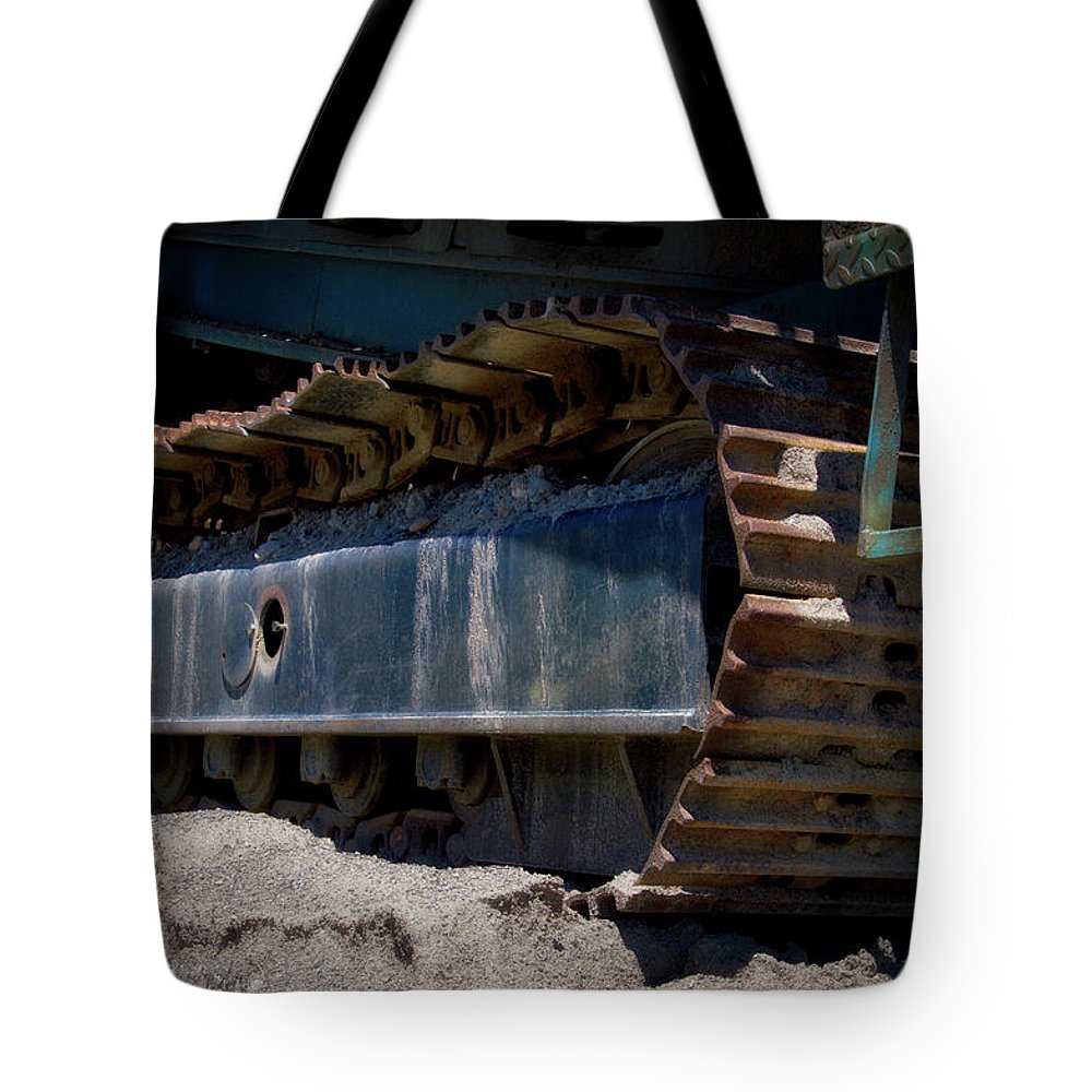 Gravel Pit Tote Bag featuring the photograph Gravel Pit Warrior Power Screen 03 by Thomas Woolworth