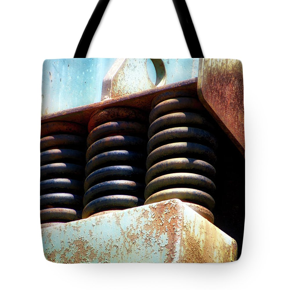 Gravel Pit Tote Bag featuring the photograph Gravel Pit Warrior Power Screen 05 by Thomas Woolworth