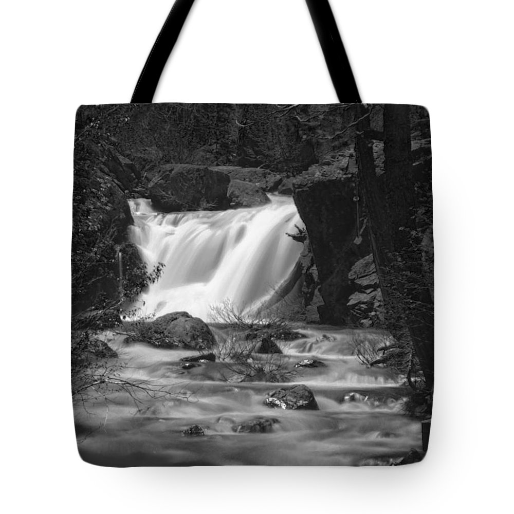 Waterfall Tote Bag featuring the photograph Gray Eagle Falls by Mick Burkey