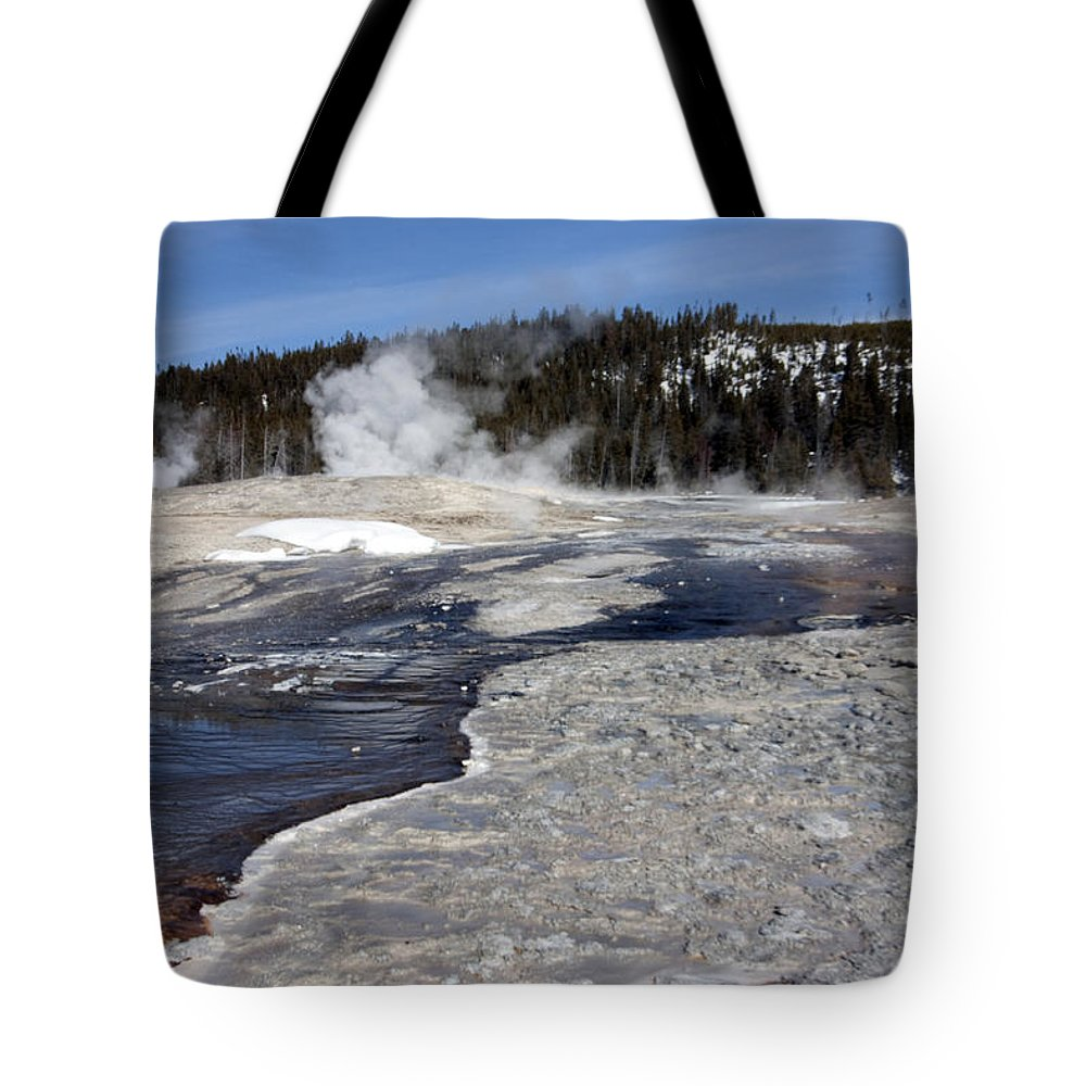 Landscape Tote Bag featuring the photograph Gray Spring by Mary Haber