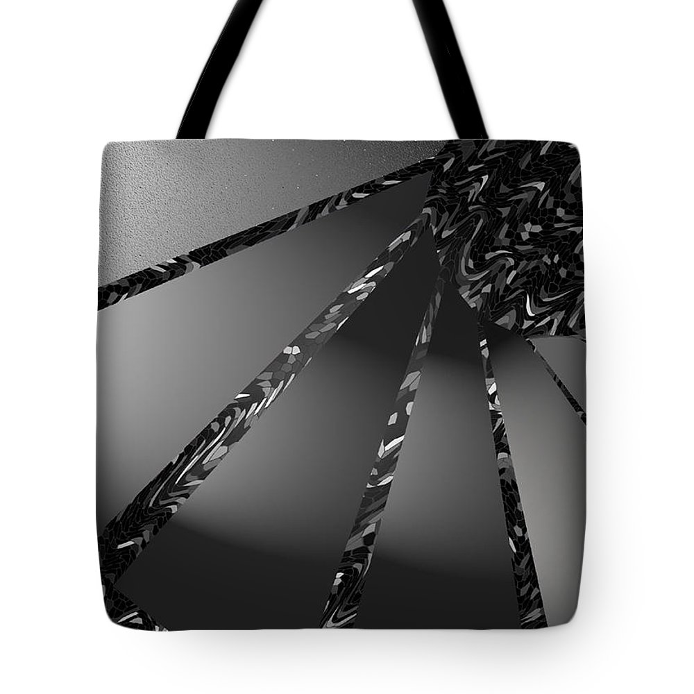 Modern Tote Bag featuring the digital art Grayed Out by ME Kozdron