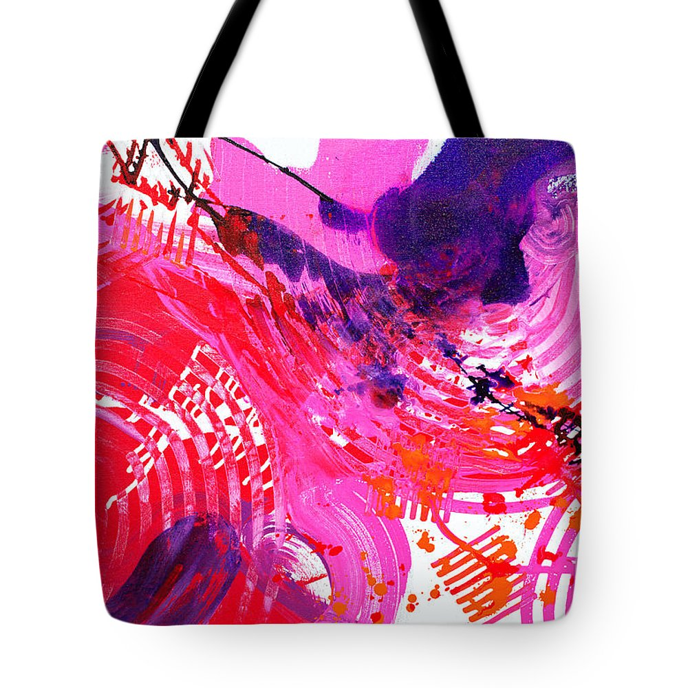 Energetic Tote Bag featuring the painting Graze H by Expressionistart studio Priscilla Batzell