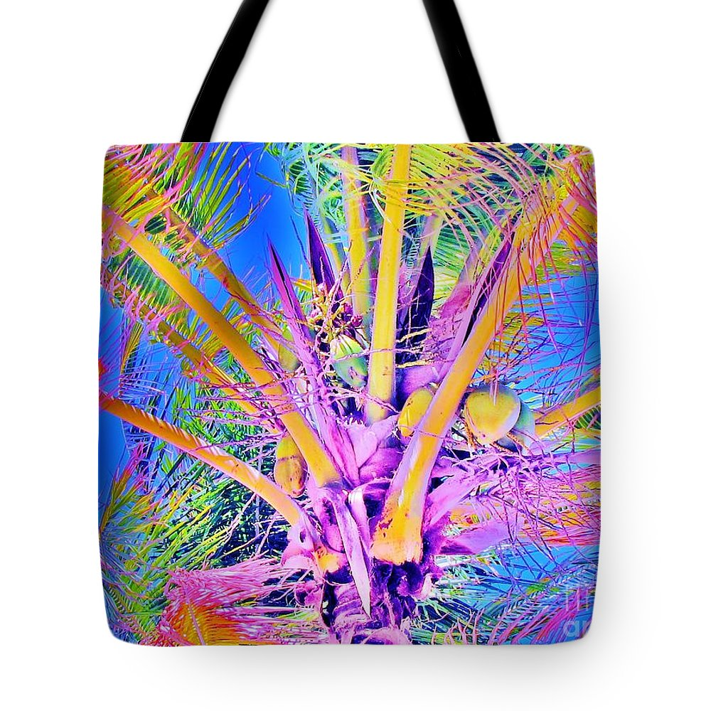 Jellee Pix Tote Bag featuring the digital art Great Abaco Palm by Keri West