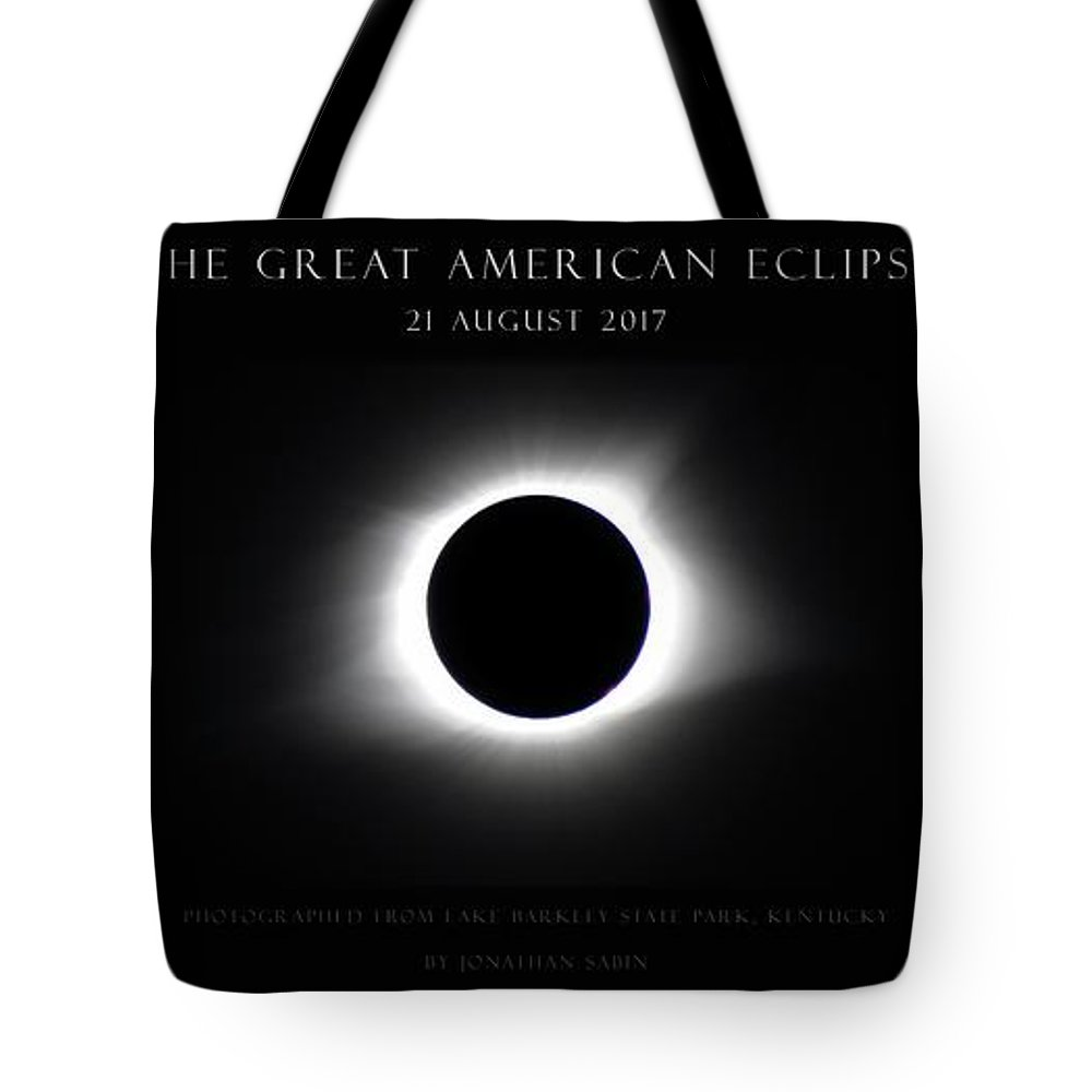 Great American Eclipse Tote Bag featuring the photograph Great American Eclipse - Triptych by Jonathan Sabin
