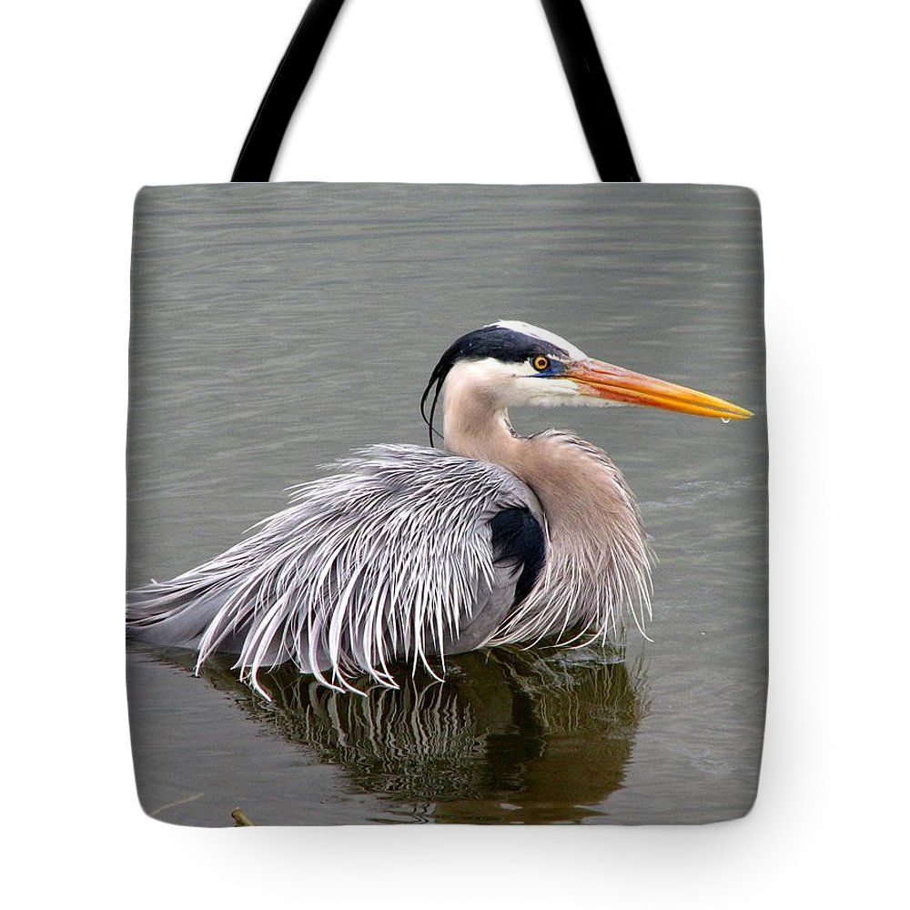Bird Tote Bag featuring the photograph Great Blue Heron 3 by J M Farris Photography