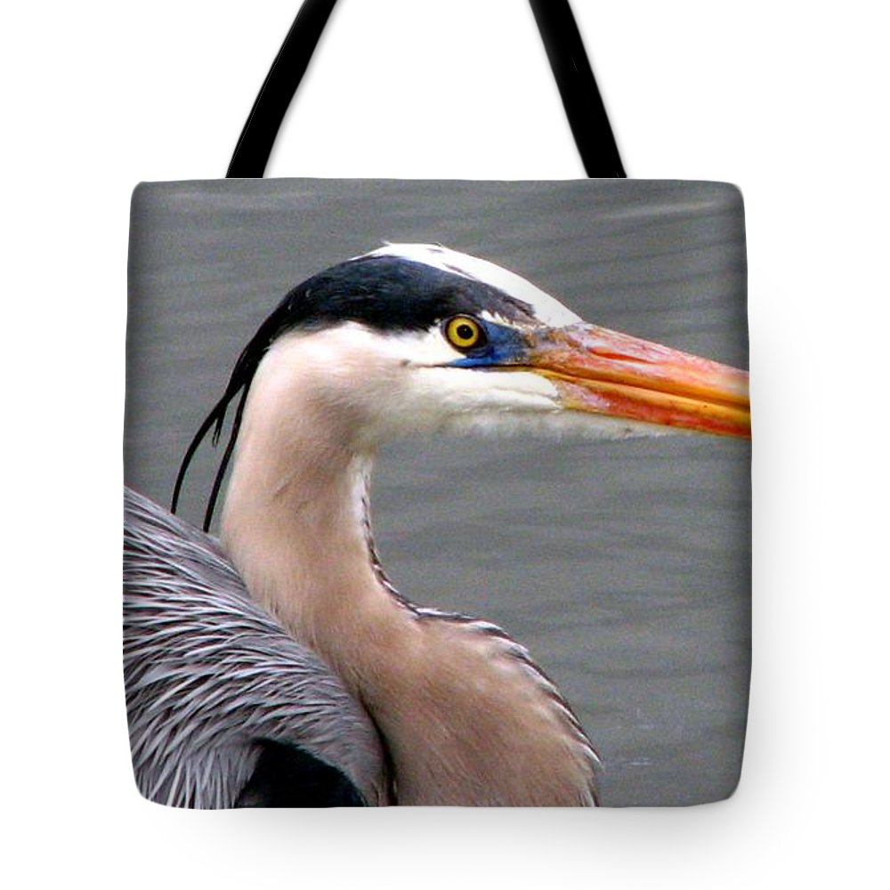 Bird Tote Bag featuring the photograph Great Blue Heron 5 by J M Farris Photography