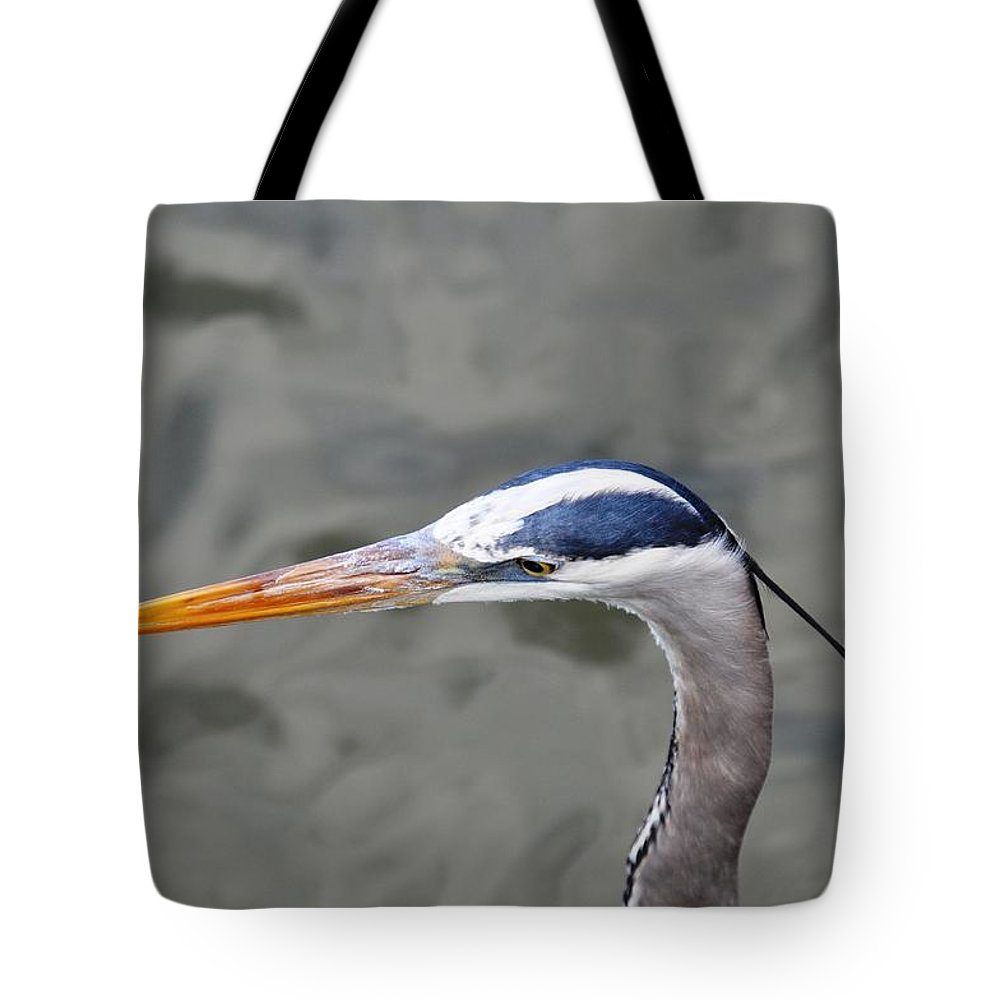 Bird Tote Bag featuring the photograph Great Blue Heron At Morikami Gardens by Rich Bodane