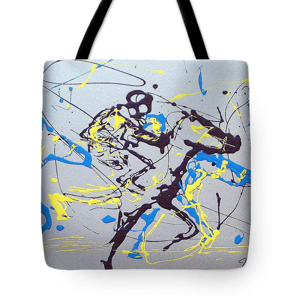 Kentucky Derby Tote Bag featuring the painting Great Day In Kentucky by J R Seymour