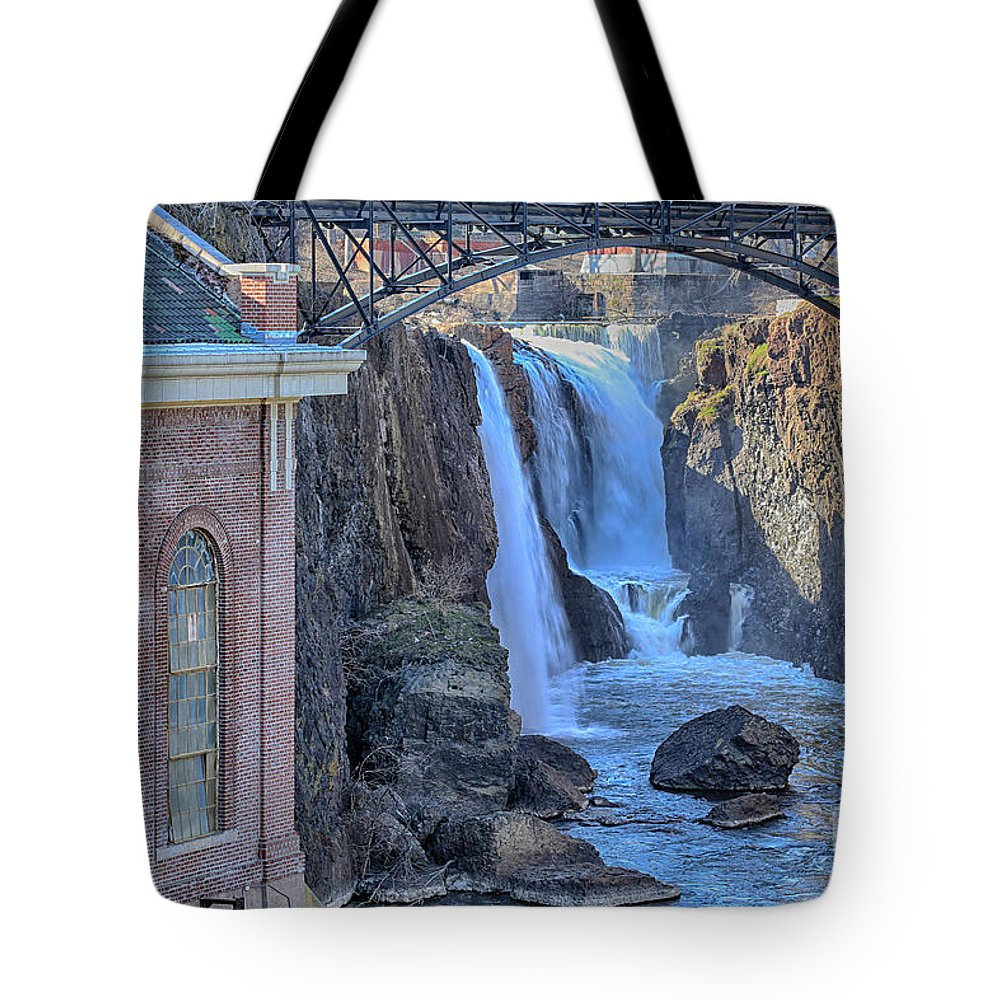 Paterson Tote Bag featuring the photograph Great Falls by Paul Fell
