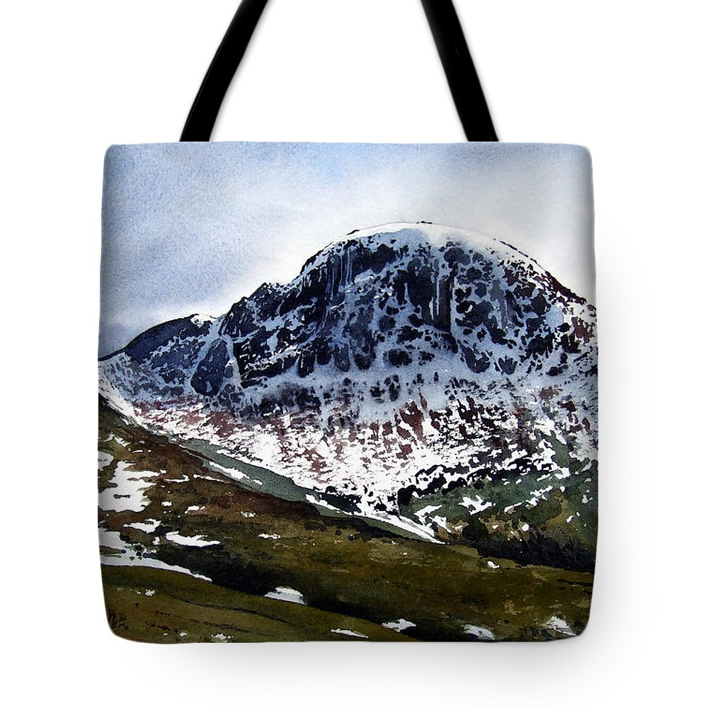 Great Gable Tote Bag featuring the painting Great Gable by Paul Dene Marlor