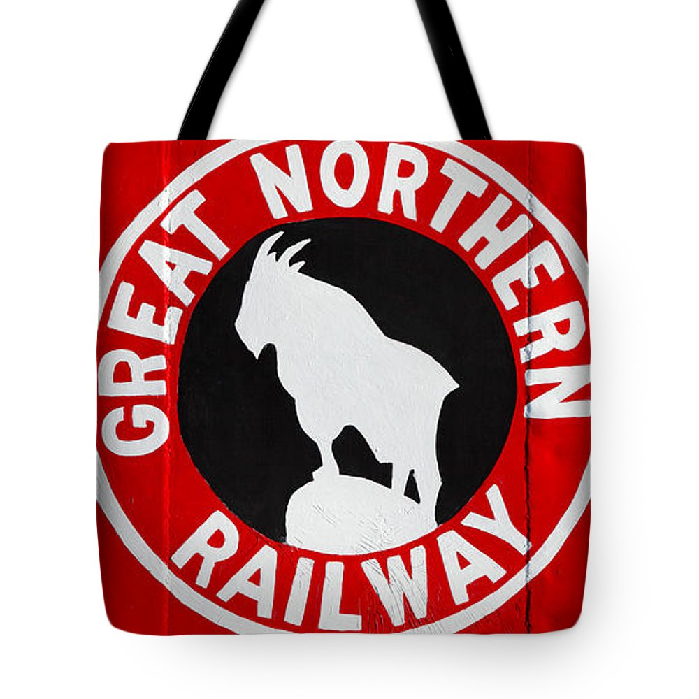 Caboose Tote Bag featuring the photograph Great Northern Caboose by Todd Klassy