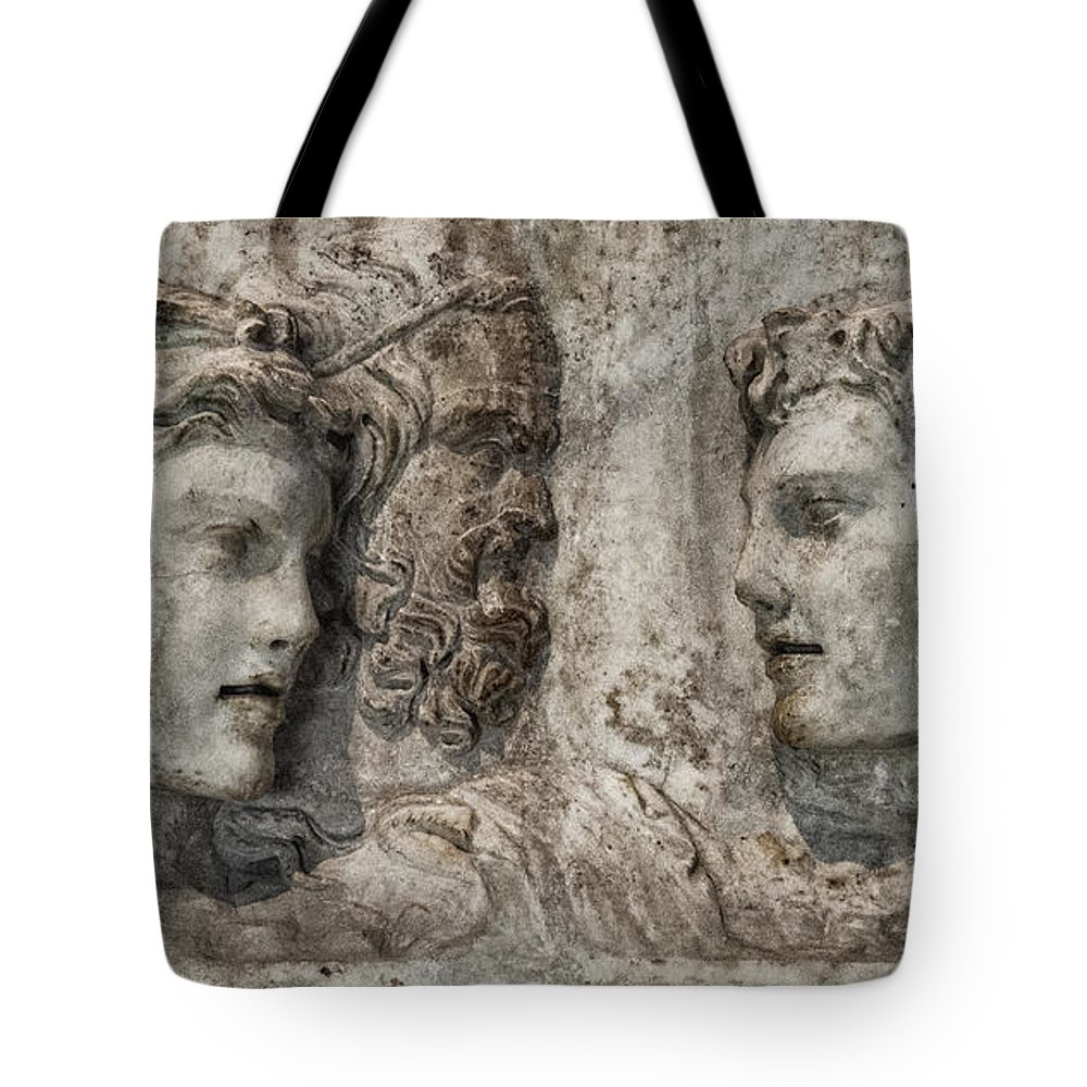 Tote Bag featuring the photograph Greek Furneral Box by Gary Warnimont