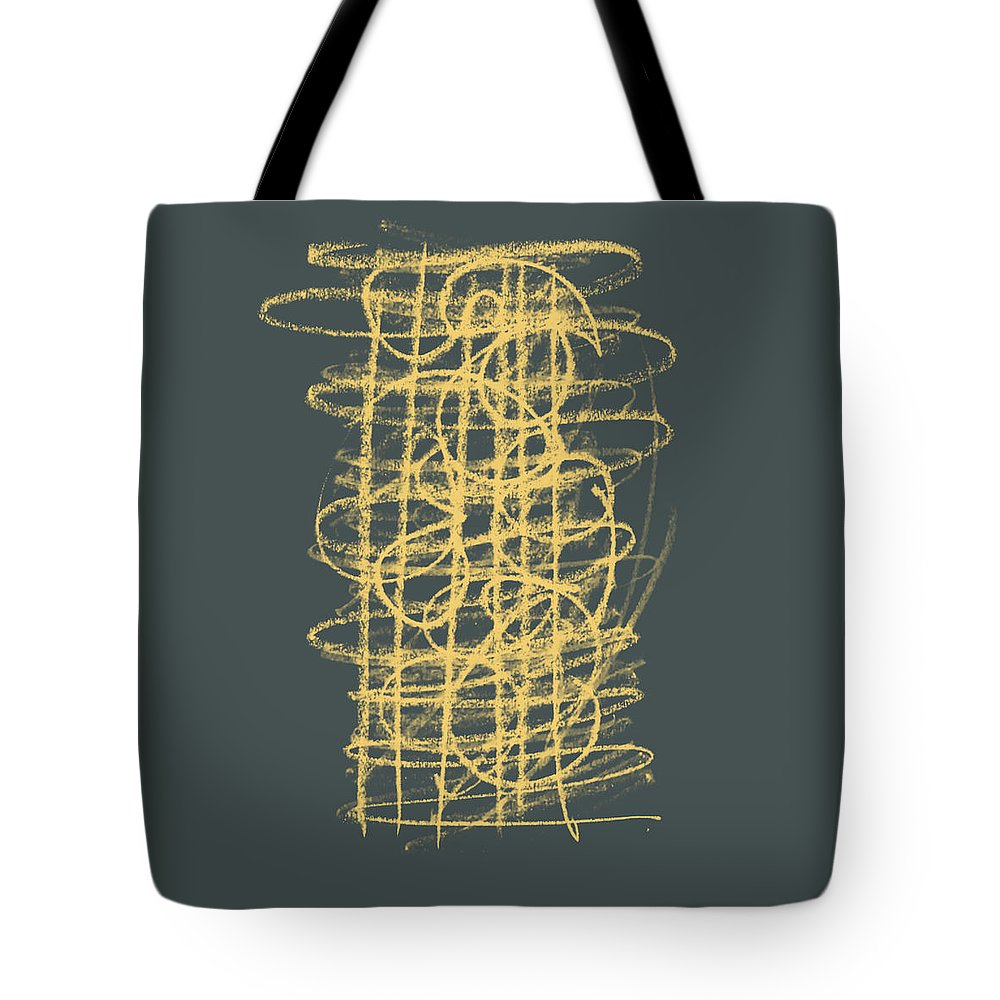 Green Tote Bag featuring the painting Green And Gold 1 by Julie Niemela
