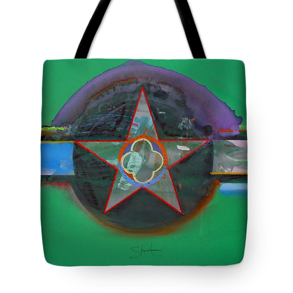 Star Tote Bag featuring the painting Green And Violet by Charles Stuart