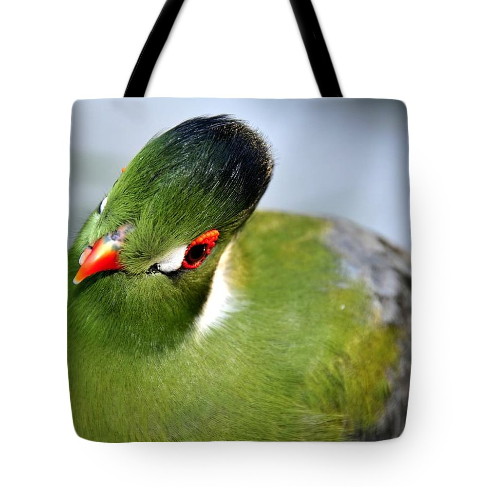 Tropical Tote Bag featuring the photograph Green Bird by David Lee Thompson