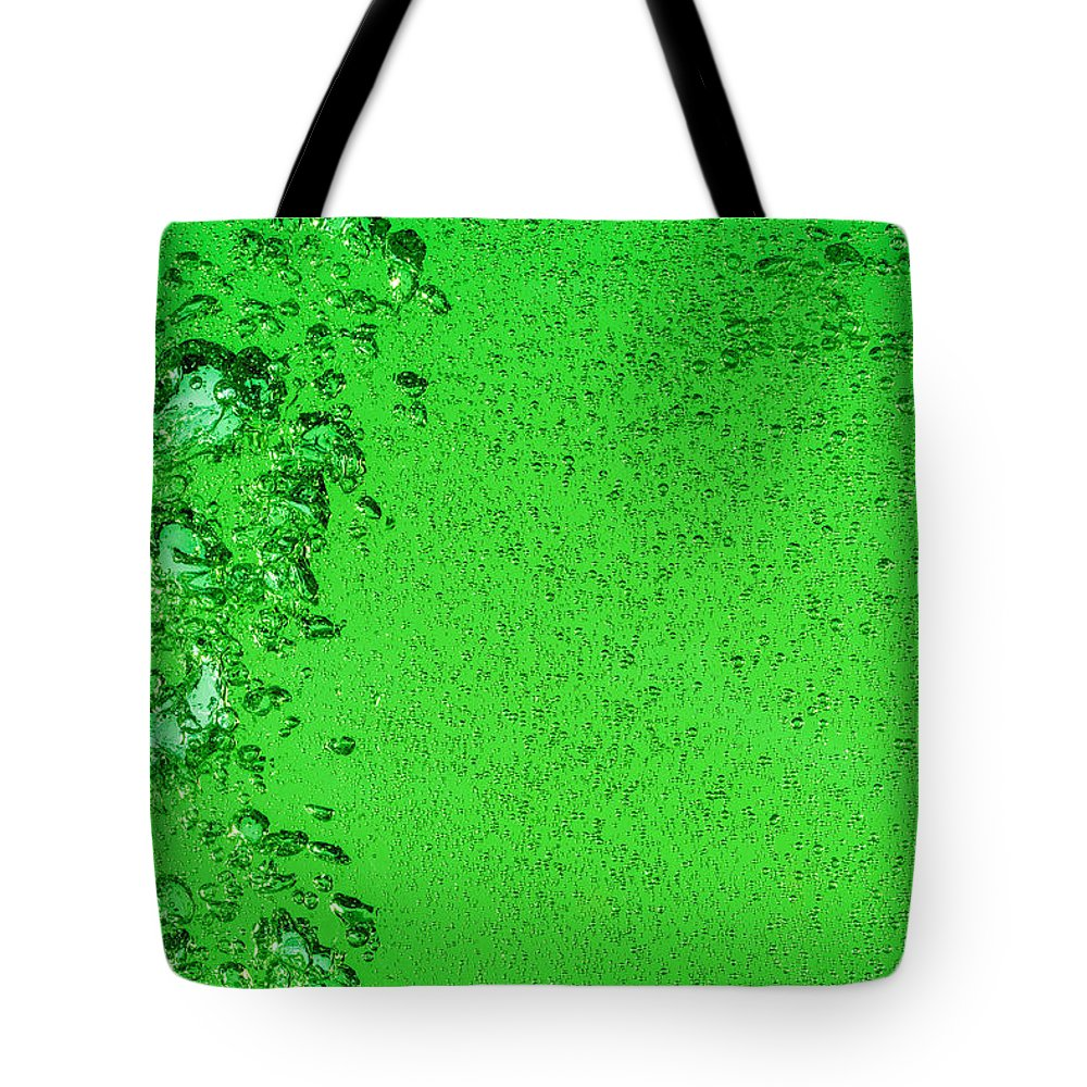 Water Tote Bag featuring the photograph Green Bubbles by Steve Gadomski