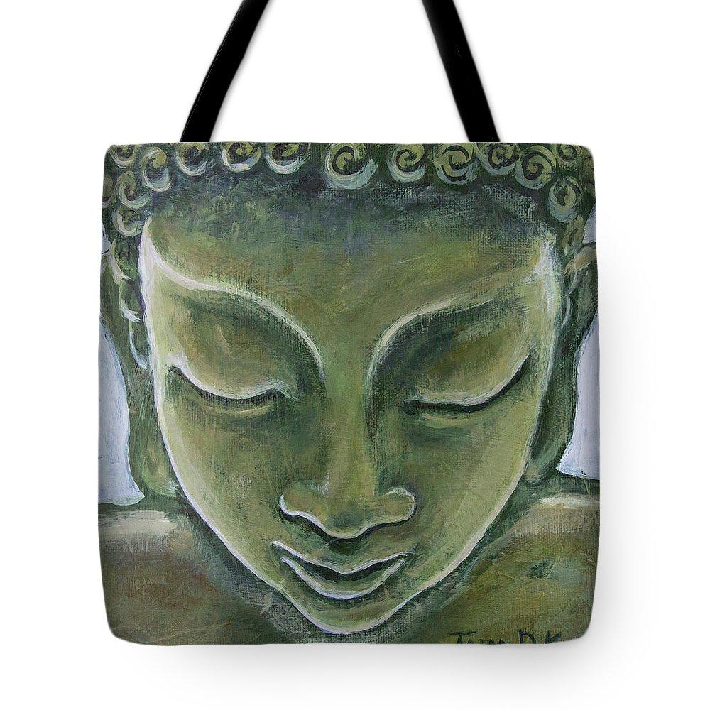 Tara Tote Bag featuring the painting Jade Buddha by Tara D Kemp