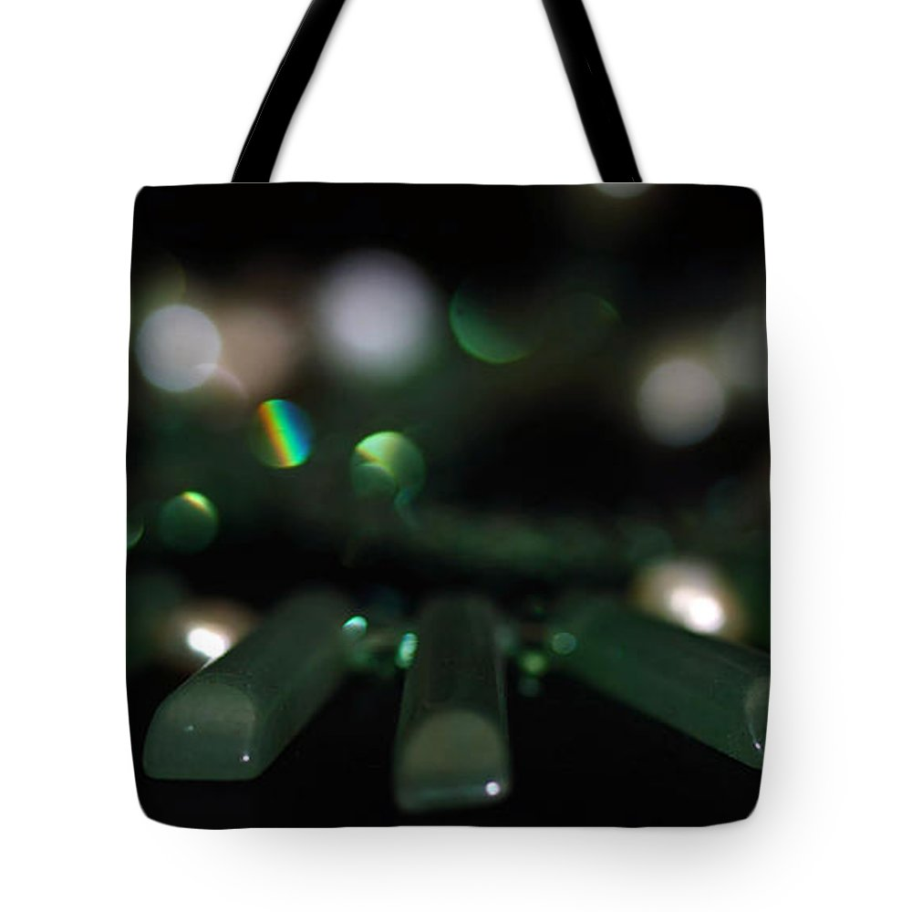 Green Tote Bag featuring the photograph Green by Cherie Duran