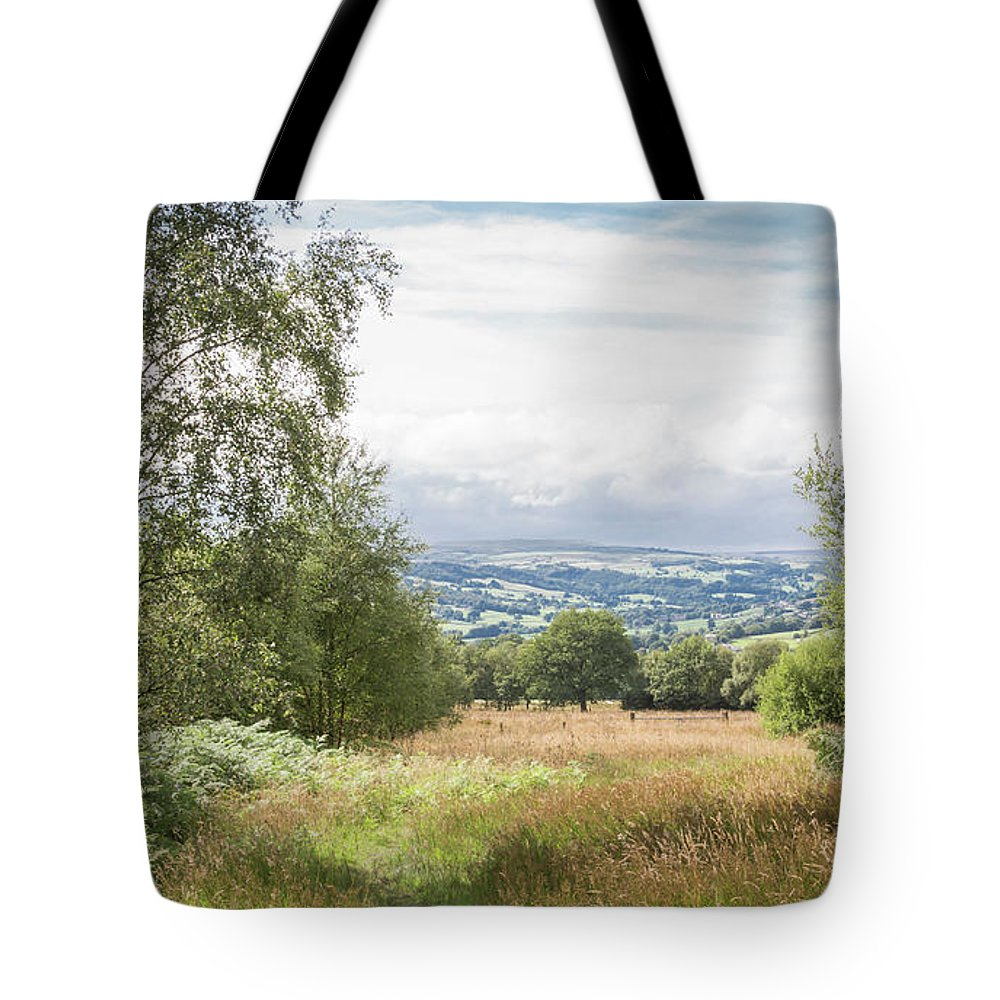 Yorkshire Tote Bag featuring the photograph Green Corridor by Raelene Goddard