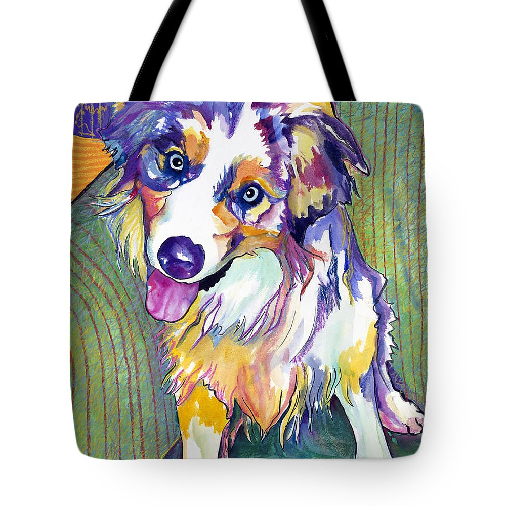 Pat Saunders-white Tote Bag featuring the painting Green Couch  by Pat Saunders-White