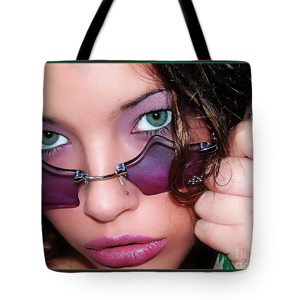Clay Tote Bag featuring the photograph Green Eye'd Girl by Clayton Bruster
