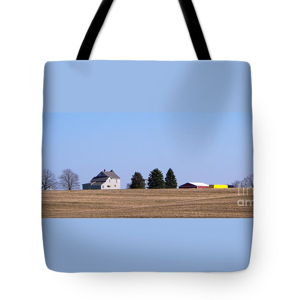 Farm Tote Bag featuring the photograph Green Fields Coming by Ann Horn