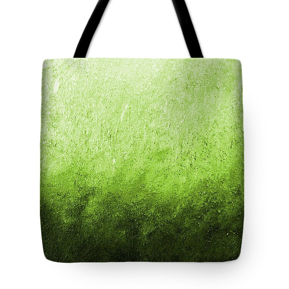 Australia Tote Bag featuring the painting Green Fire by Giro Tavitian