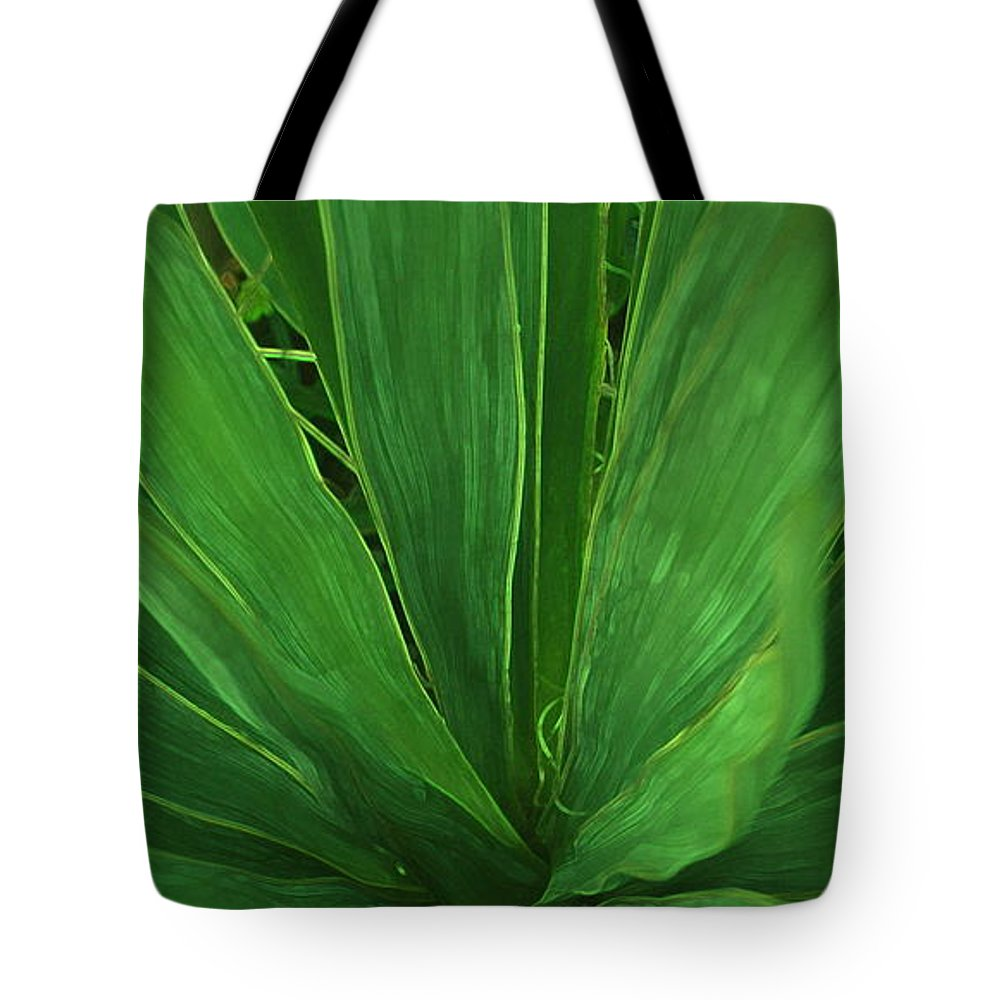 Green Plant Tote Bag featuring the photograph Green Glow by Linda Sannuti