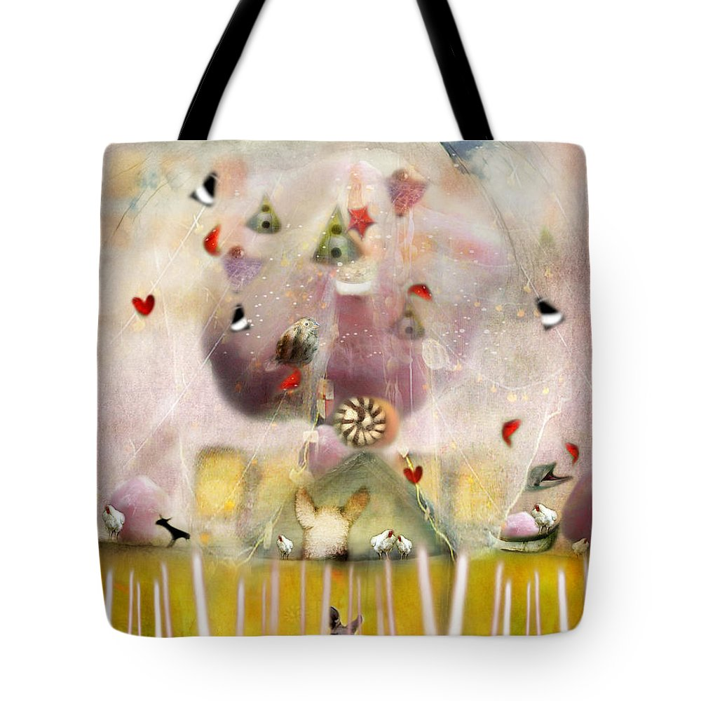 Green House Tote Bag featuring the photograph Green House by Karen Divine