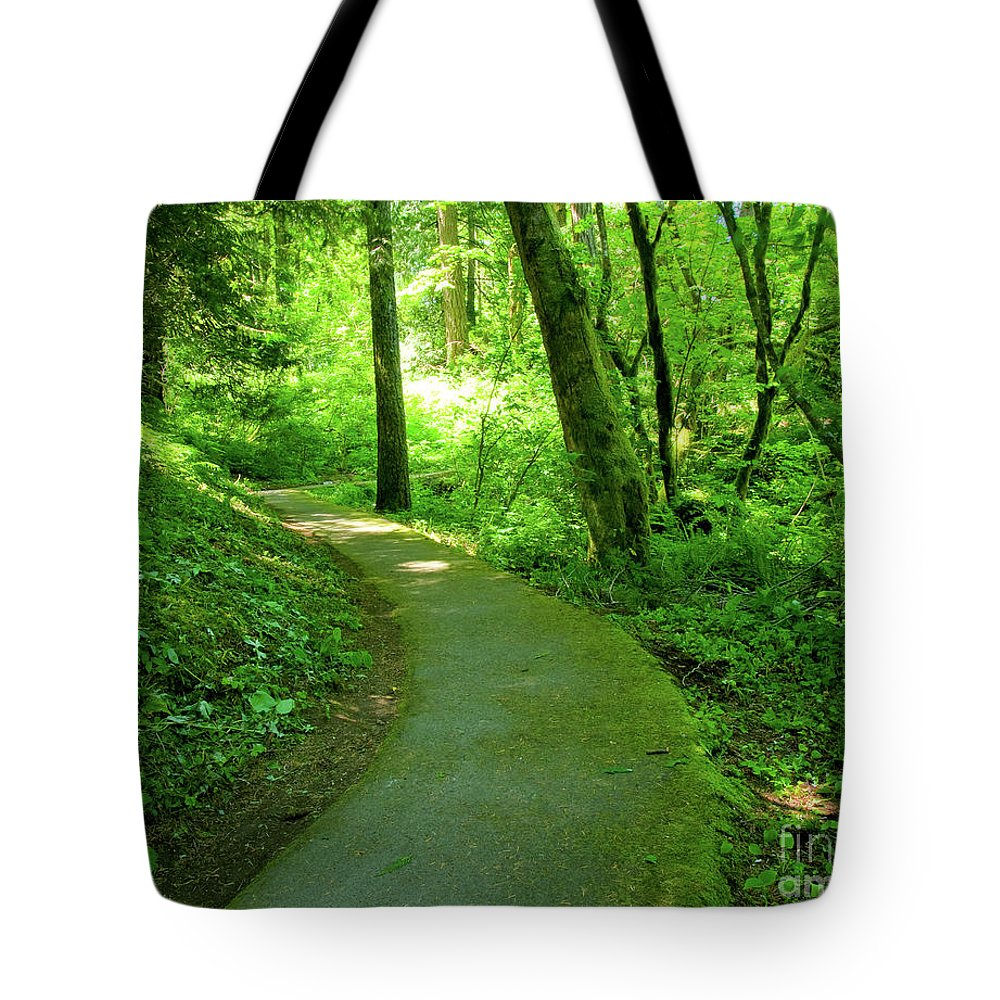 Columbia Gorge Tote Bag featuring the photograph Green Journey by Idaho Scenic Images Linda Lantzy