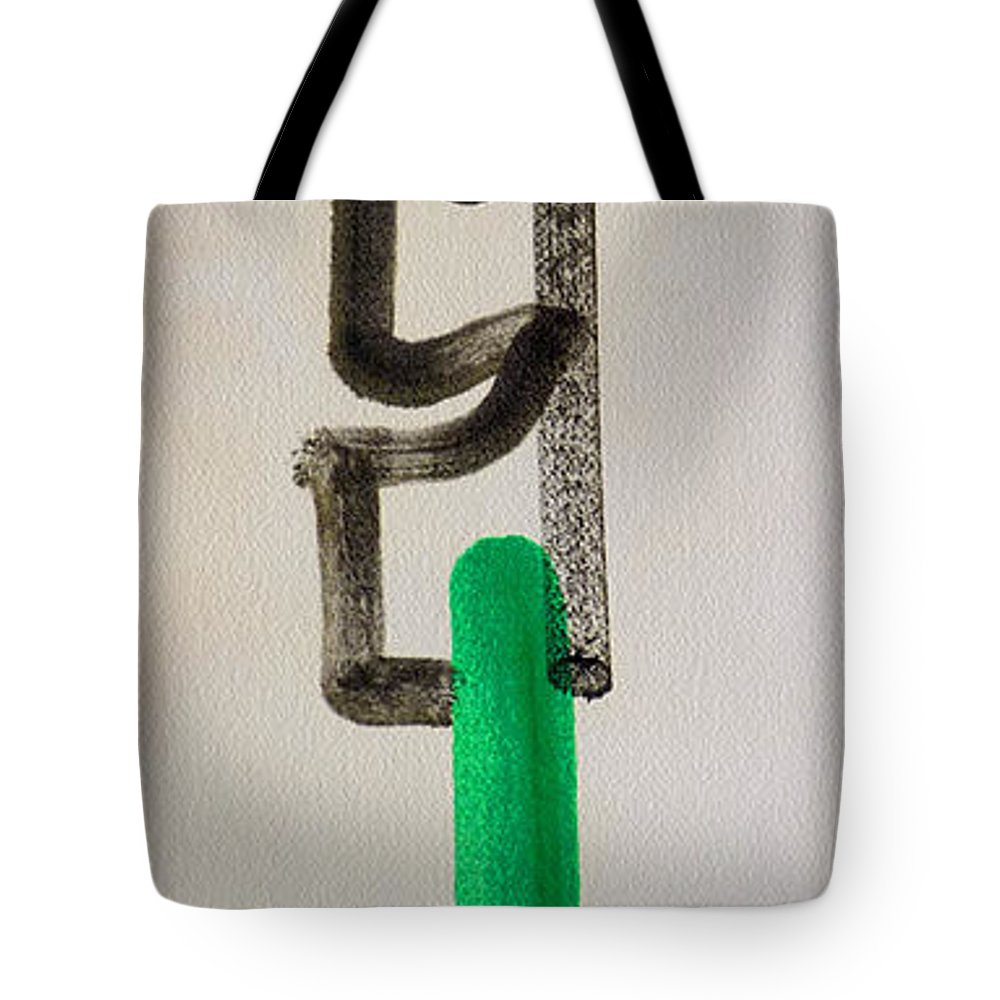 King Tote Bag featuring the painting Green King by Charles Stuart