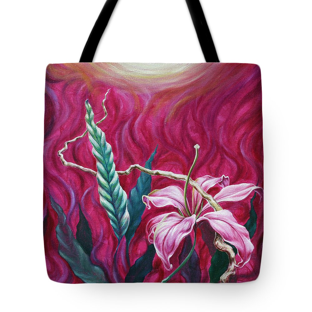 Tote Bag featuring the painting Green Leaf by Jennifer McDuffie