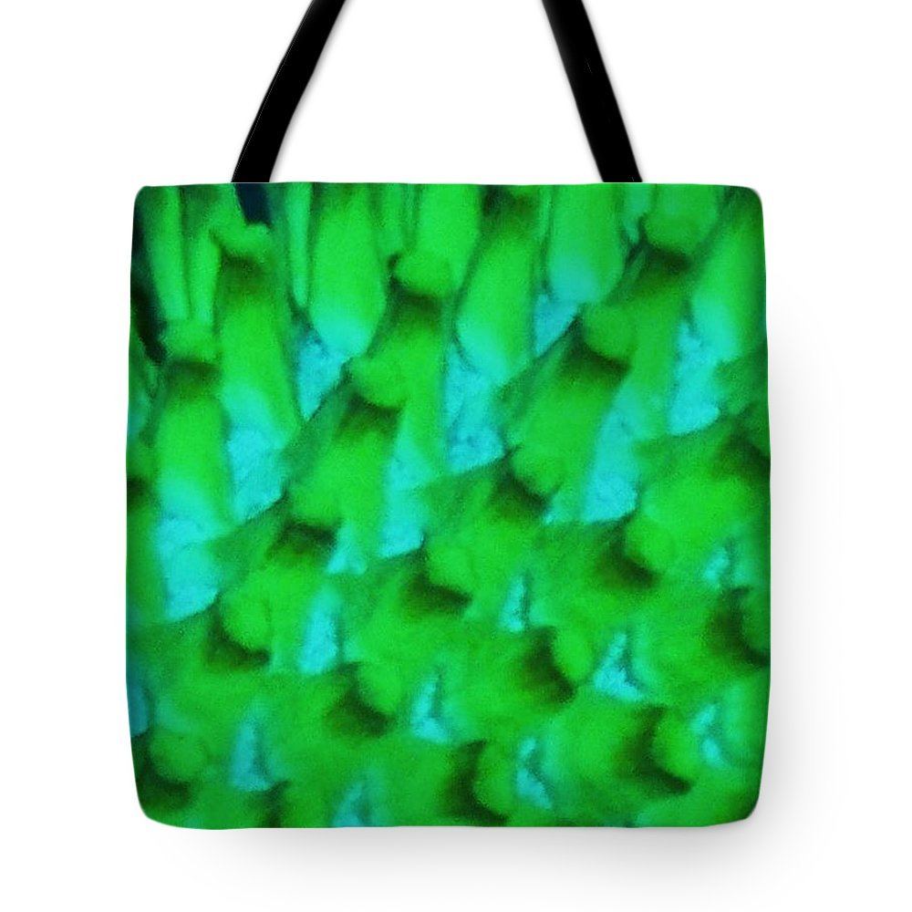 Green Tote Bag featuring the painting Green Pattern Abstract by Eric Schiabor