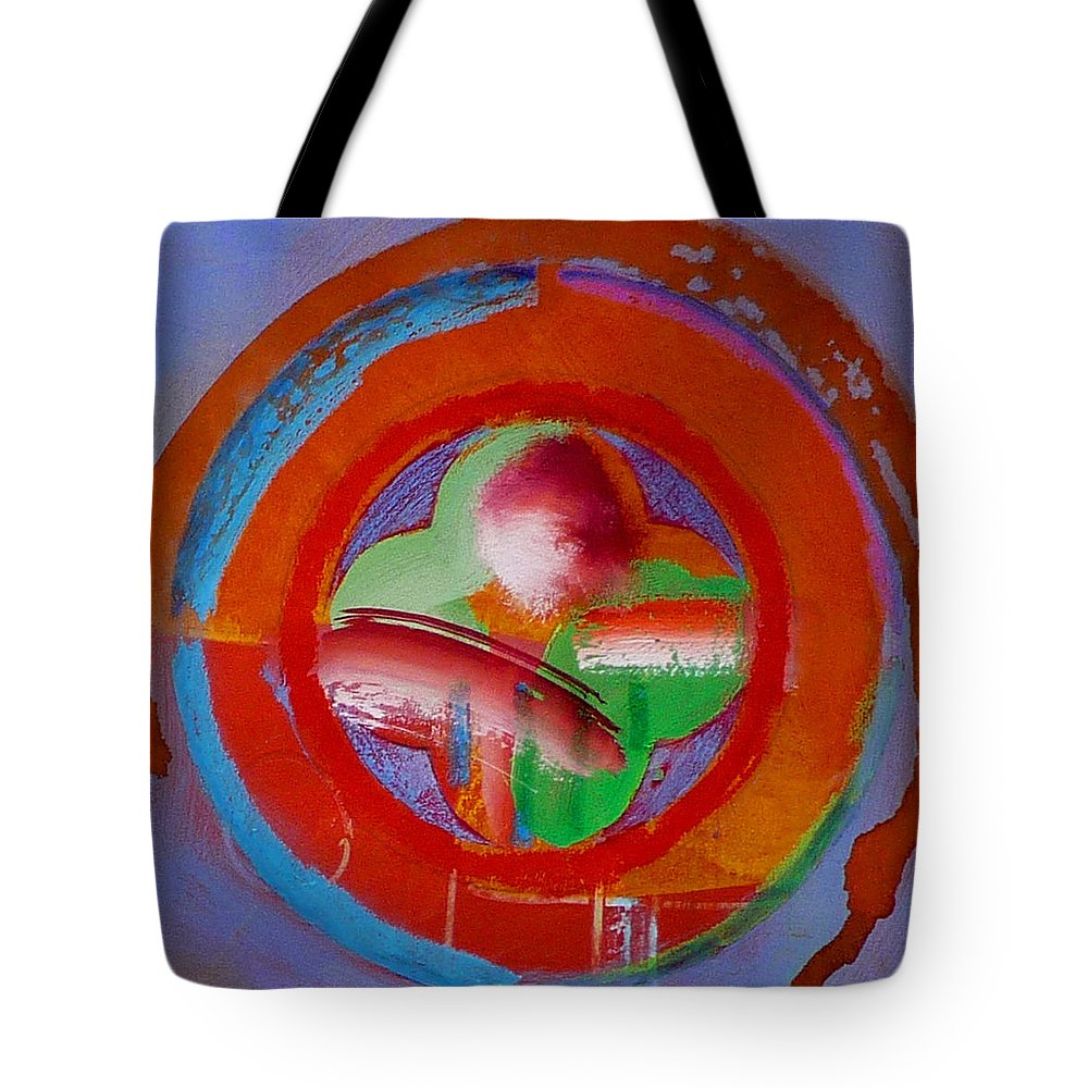 Love Tote Bag featuring the painting Green Planet by Charles Stuart