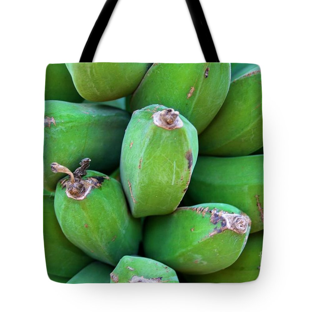 Bananas Tote Bag featuring the photograph Green Platanos by Roam Images
