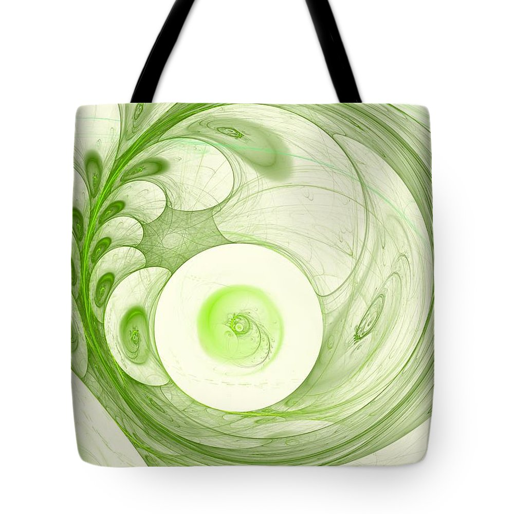 Woman Tote Bag featuring the digital art Green Power by Steve K