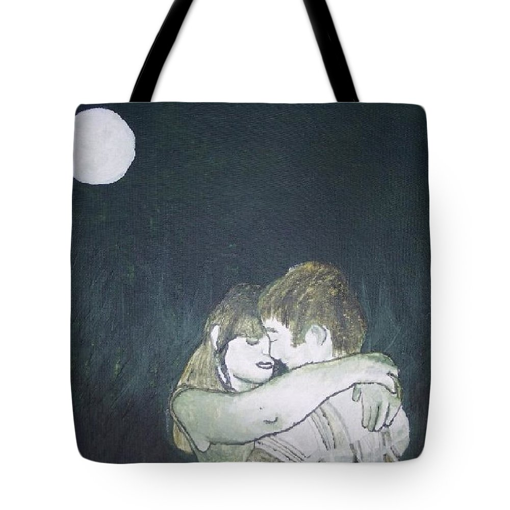 Green Tote Bag featuring the painting Green Romance by Lindsey Saucier