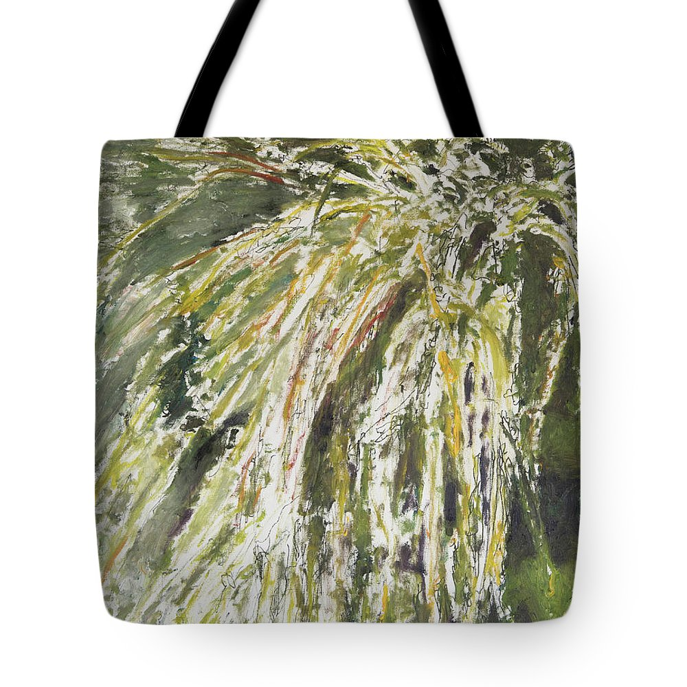 Plants Tote Bag featuring the painting Green Reeds by Craig Newland
