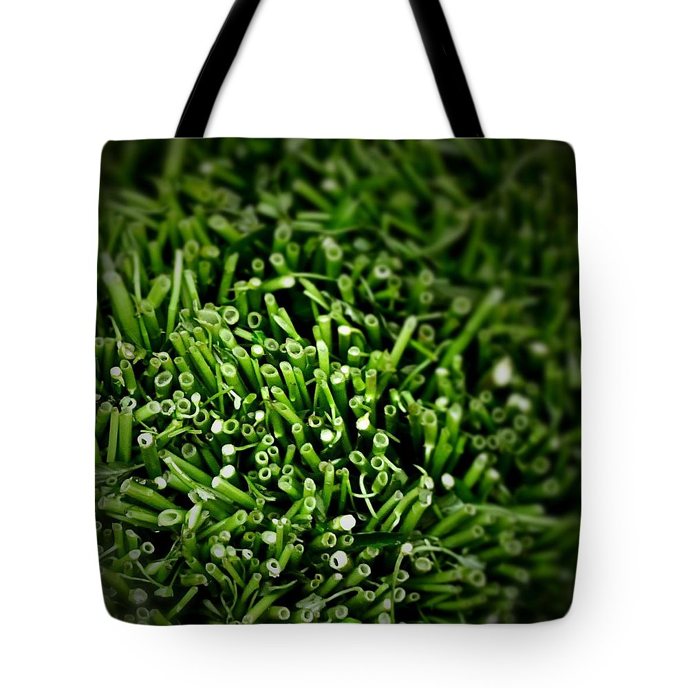 Greens Tote Bag featuring the photograph Green Stalks by Robert Skuja