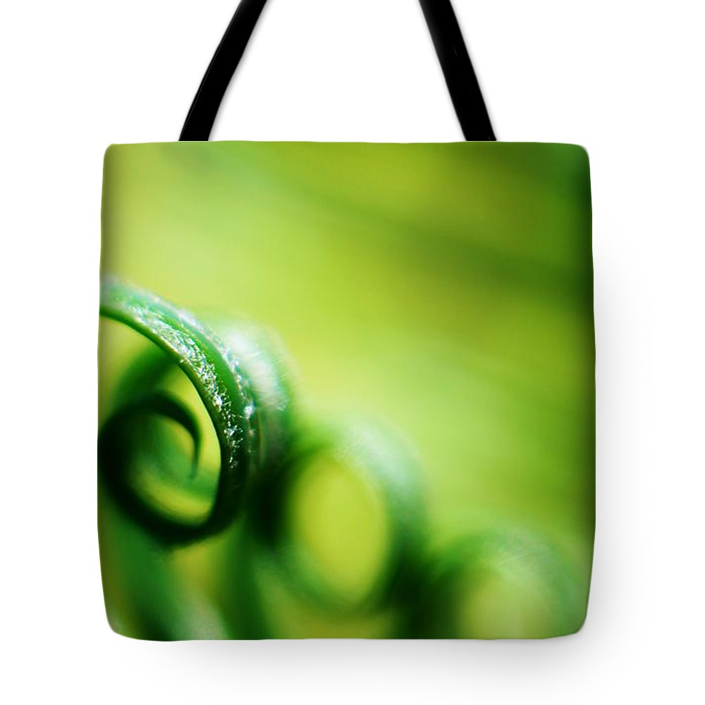 Tides Tote Bag featuring the photograph Green Tides by Catherine Lau