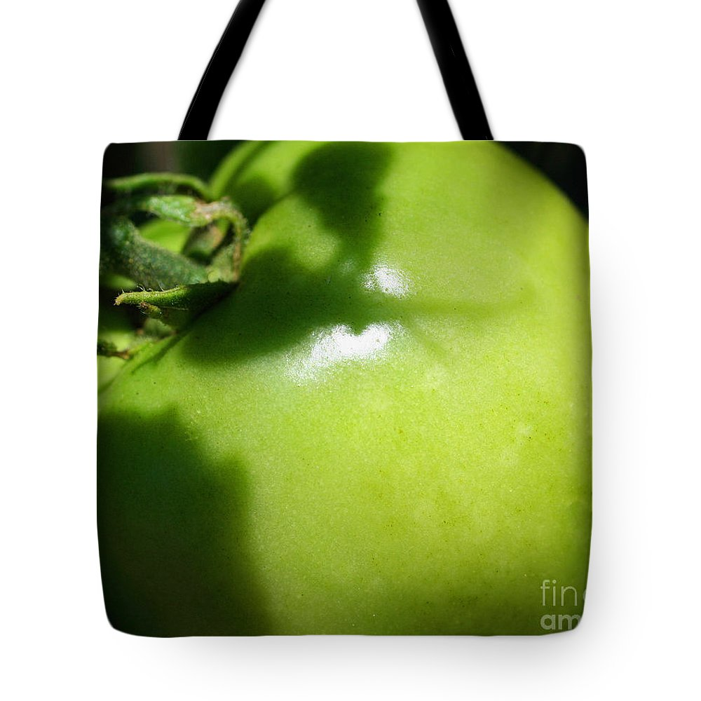 Tomato Tote Bag featuring the photograph Green Tomato by Smilin Eyes Treasures