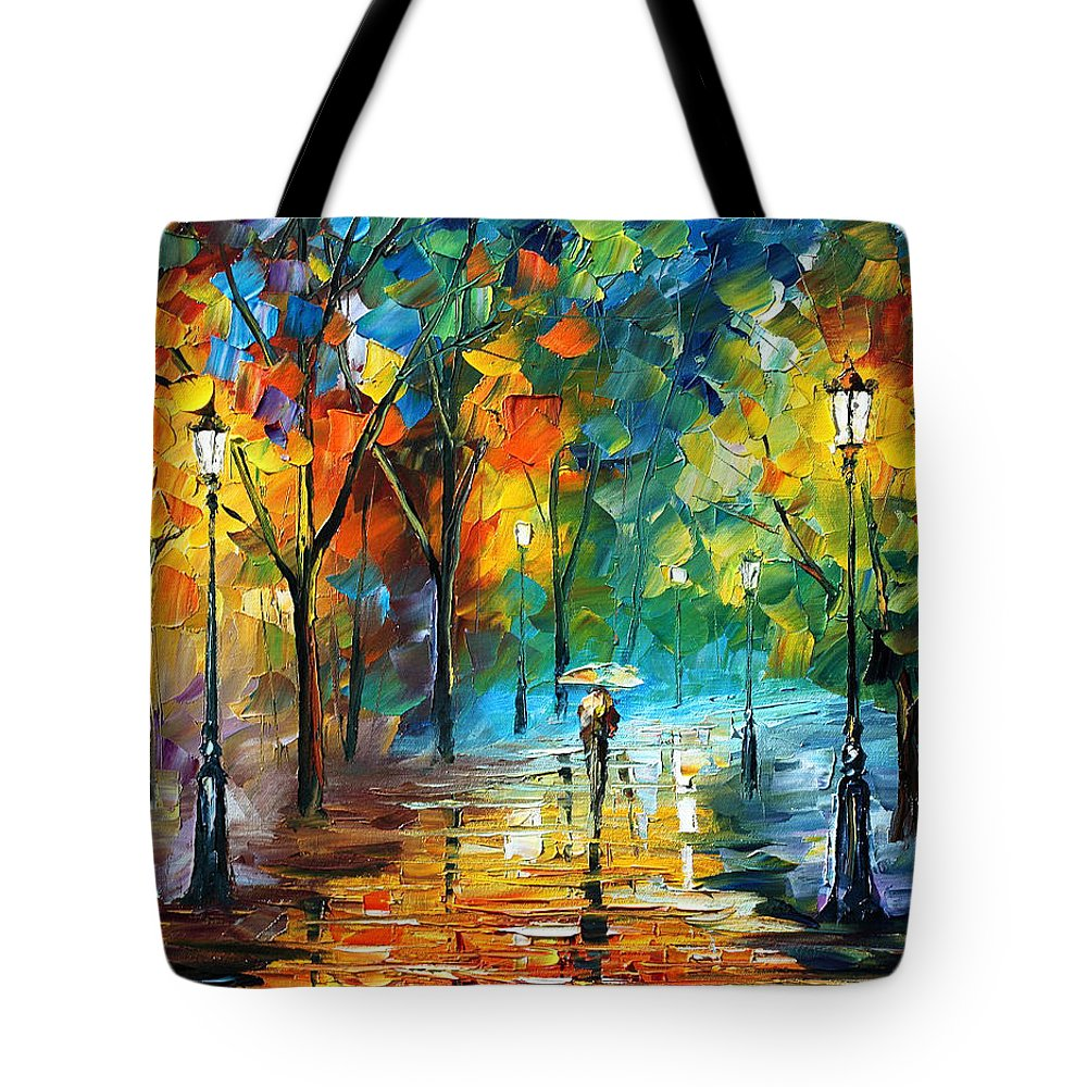 Landscape Tote Bag featuring the painting Green Tree by Leonid Afremov