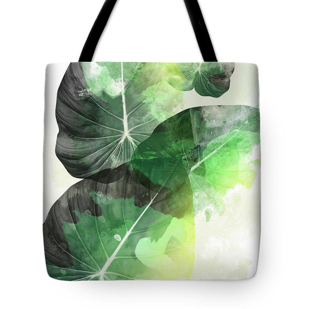 Summer Tote Bag featuring the painting Green Tropical by Mark Ashkenazi