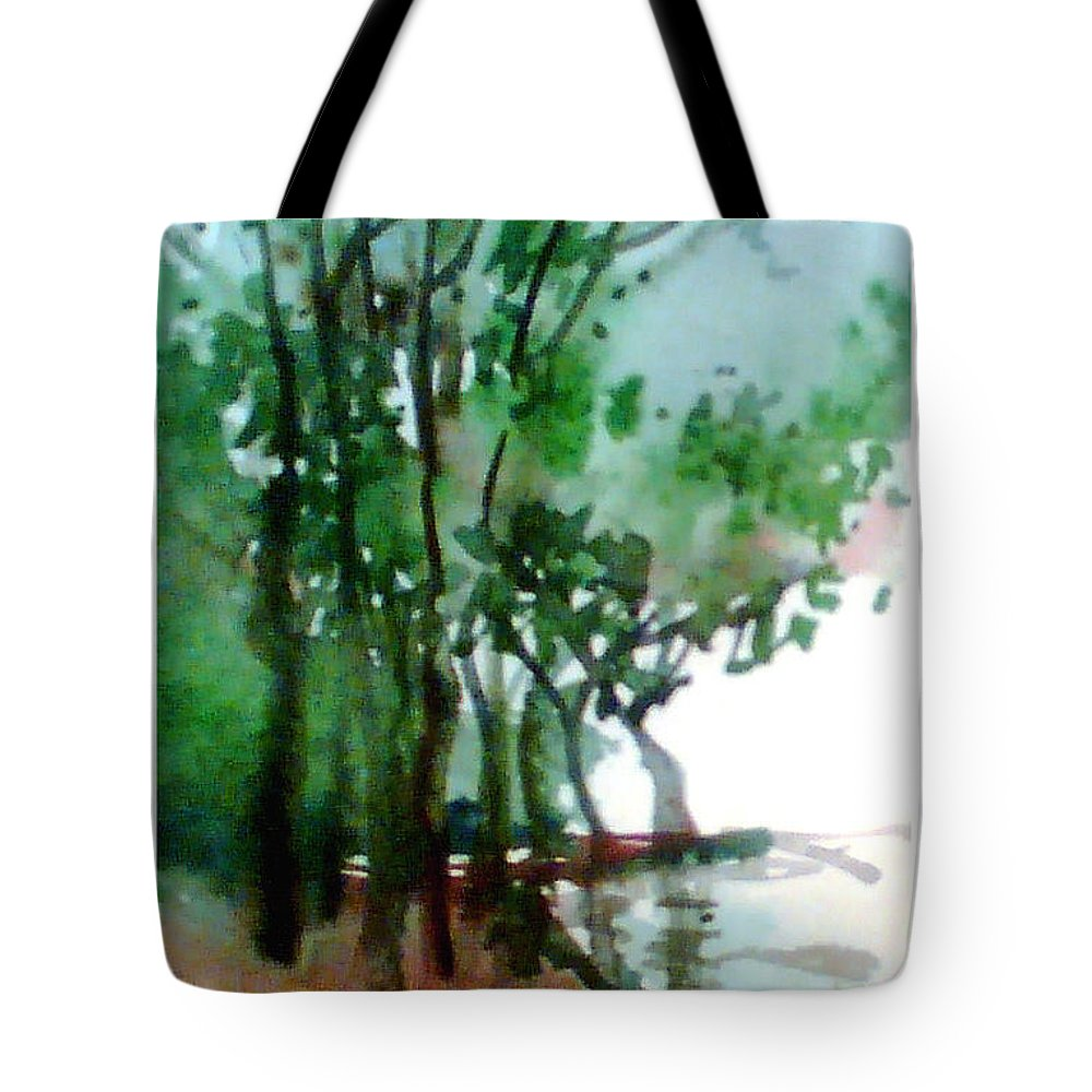Water Color Tote Bag featuring the painting Greens by Anil Nene