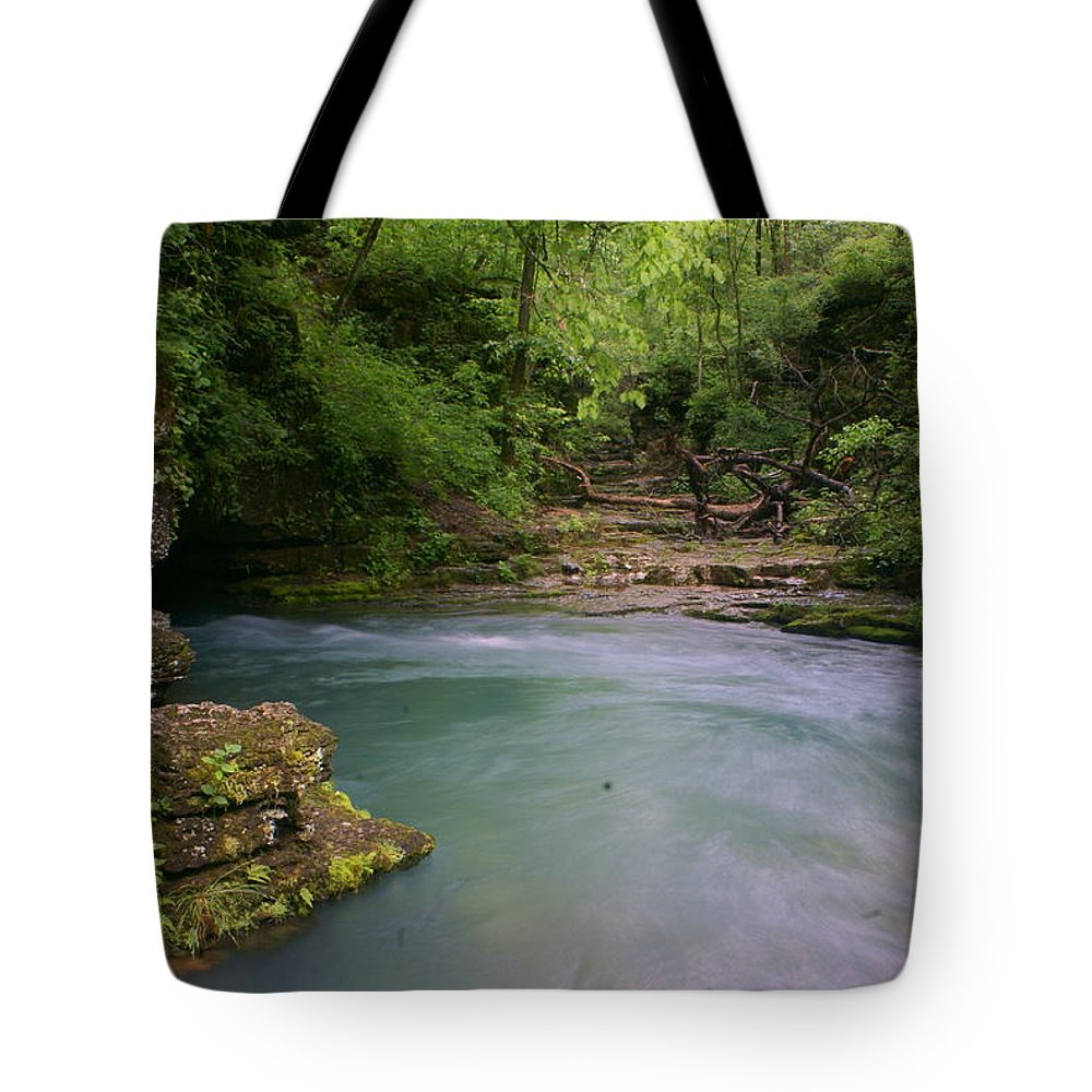 Greer Spring Tote Bag featuring the photograph Greer Spring by Marty Koch