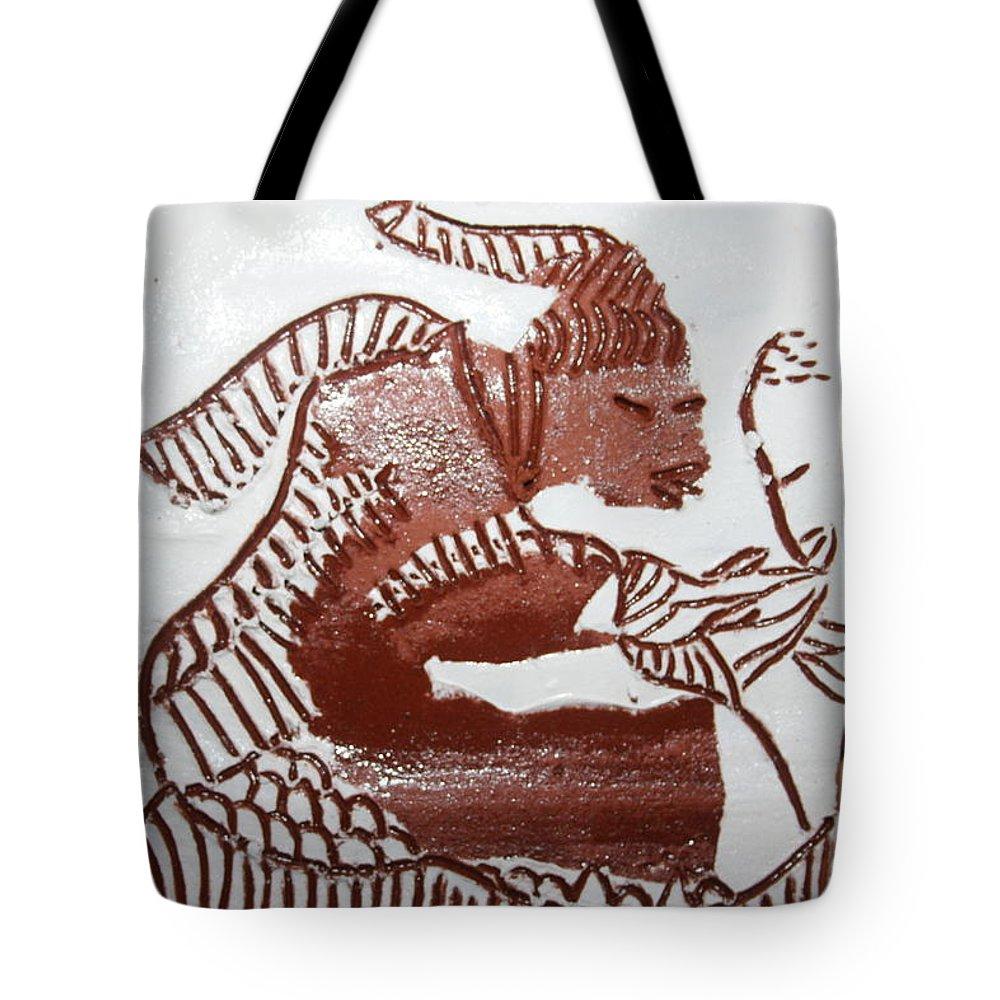 Gloria Photosgloria Photospineapple2pineapple Tote Bag featuring the ceramic art Greeting 5 - Tile by Gloria Ssali
