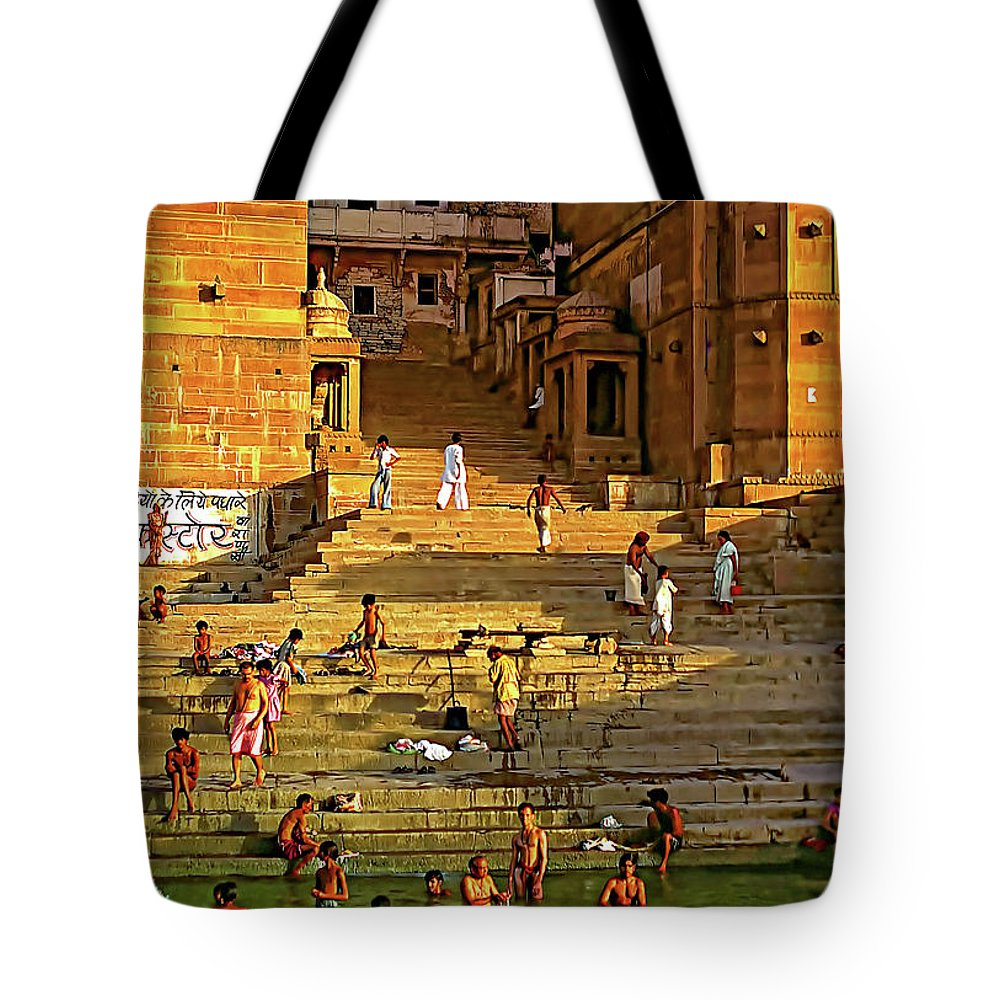Sacred Tote Bag featuring the photograph Greeting The Sun by Steve Harrington